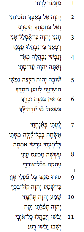 Psalm 6 Revealed - Ancient Hebrew Poetry